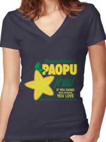 Paopu Fruit - Kingdom Hearts Women's Fitted V-Neck T-Shirt