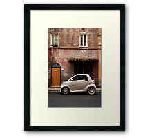 Smart Car in Rome Framed Print
