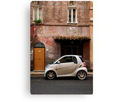 Smart Car in Rome Canvas Print