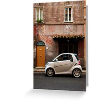 Smart Car in Rome Greeting Card