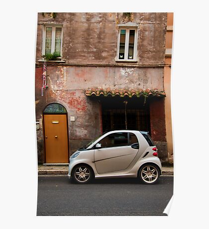 Smart Car in Rome Poster