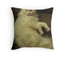 I'm too furry for you Throw Pillow