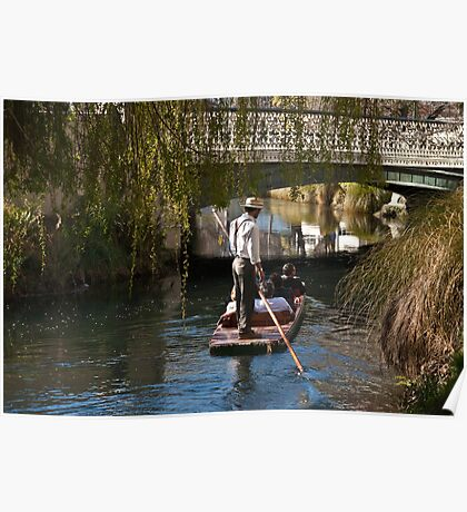 Punting on the River Avon, Christchurch NZ Poster