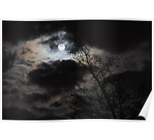 Full Moon on a Cloudy Night Poster