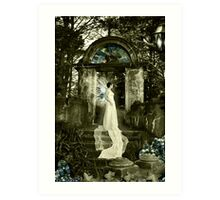 Blue Crystal Winged Fae Art Print