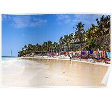 Mombasa - Market on the beach Poster