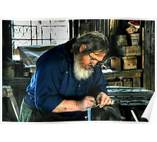 The Blacksmith at Work Poster