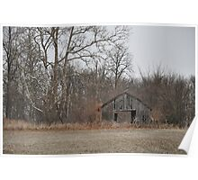 Weathered old wooden barn Poster