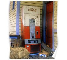 Old Coke machine Poster
