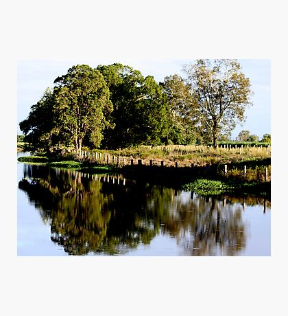 Fence Reflections Photographic Print