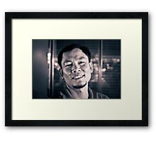 The Street Bartender. Framed Print