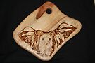 Possum in the Gums on a Chopping Board by aussiebushstick