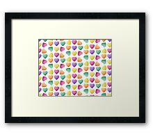 Zef Candy Hearts White Framed Print