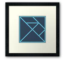 Elm Logo Monochrome Framed Print