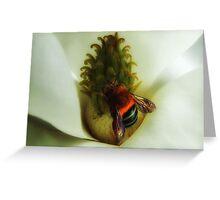 "'Magnolia & Bumble Bee"" Greeting Card"