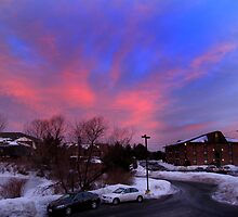 Candy Colored Sunrise Over Drum Hill - Lowell Massachusetts by Dylan Thompson