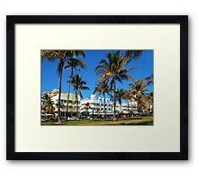 Art Deco architecture in Miami South Beach, Florida Framed Print