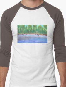 Finnish lakeview vector Men's Baseball ¾ T-Shirt