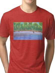 Finnish lakeview vector Tri-blend T-Shirt