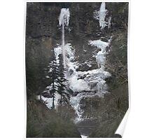Multnomah Falls Frozen-Oregon Poster