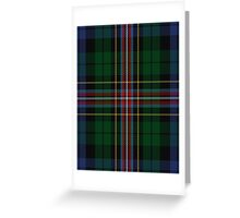 00503 Allison (MacBean & Bishop) Tartan  Greeting Card