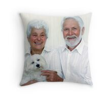 Bobby's New Family Throw Pillow