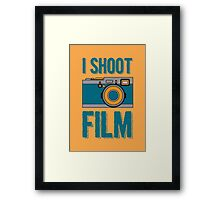 I Shoot Film - Vintage Camera Design Framed Print
