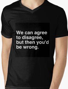 Agree to Disagree Mens V-Neck T-Shirt