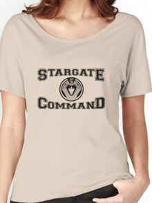 Stargate Command Athletics - black Women's Relaxed Fit T-Shirt
