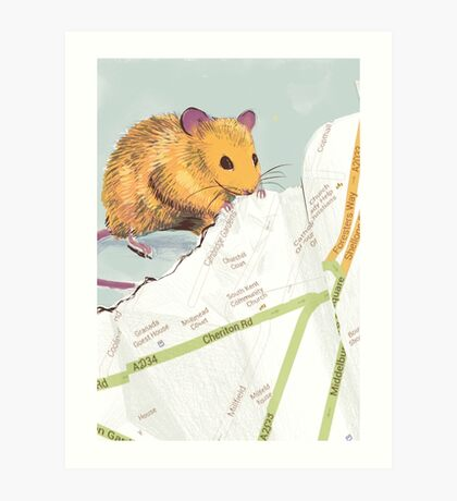 Mouse Map Art Print