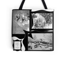 Snow Scene and Begonias  Tote Bag
