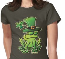 Saint Patrick's Day Frog Womens Fitted T-Shirt