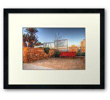 Resting corner Framed Print