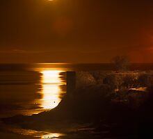 Moonrise Abersoch by Turtle  Photography
