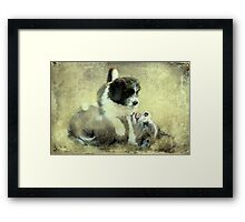 """""""& they call it Puppy Love ..."""" Framed Print"""