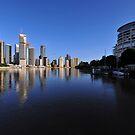 Brisbane River and City at dawn. Queensland, Australia.(4) by Ralph de Zilva