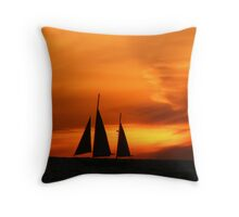 We Three Sails Throw Pillow