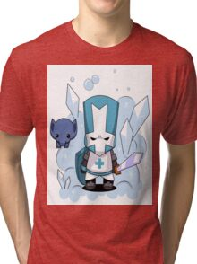 castle crashers blue knight Tri-blend T-Shirt