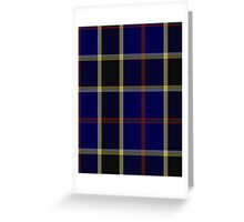 00507 Atlantic Police Academy Tartan  Greeting Card