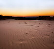 A Sandy Orange Kalahari Sunset by Marethe