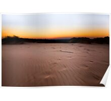 A Sandy Orange Kalahari Sunset Poster