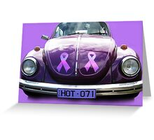 Volkeswagen in the Pink Greeting Card