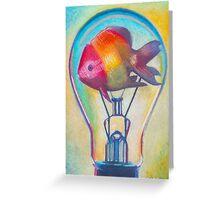 """Fish Bulb"" drawing by Ashazart Greeting Card"