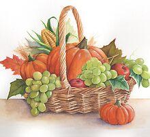 Thanksgiving basket by lizblackdowding