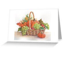 Thanksgiving basket Greeting Card