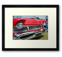 restored red ford mercury Framed Print