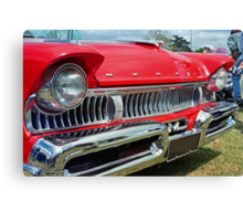 restored red ford mercury Canvas Print