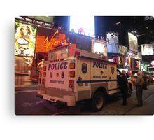 NYPD Vehicle on Broadway at Night - Manhattan Canvas Print