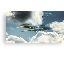 B17 in the clouds Canvas Print