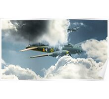 B17 in the clouds Poster